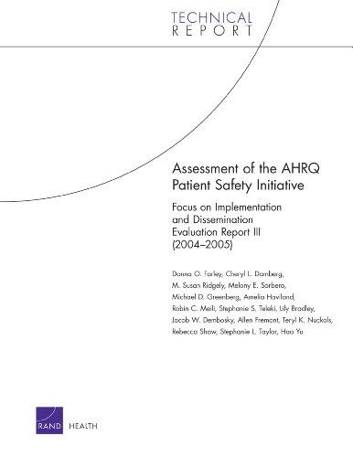 Assessment of the AHRQ Patient Safety