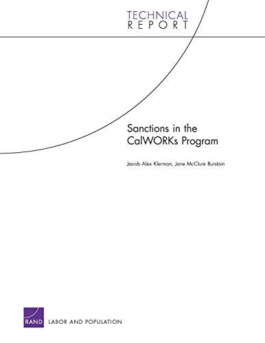 Sanctions in the CalWorks Program: Jacob Alex Klerman