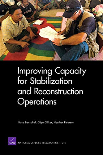 9780833046987: Improving Capacity for Stabilization and Reconstruction Operations