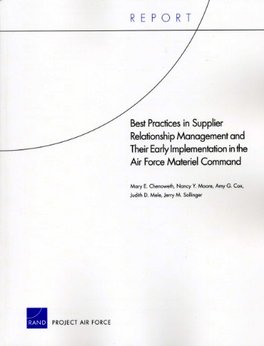 9780833051448: Best Practices in Supplier Relationship Management and Their Early Implementation in the Air Force Materiel Command