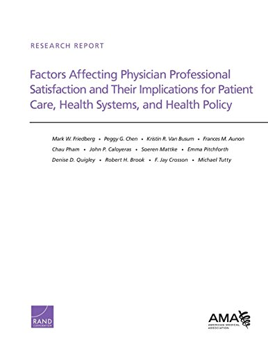 9780833082206: Factors Affecting Physician Professional Satisfaction and Their Implications for Patient Care, Health Systems, and Health Policy: RR-439-AMA (Research Report)