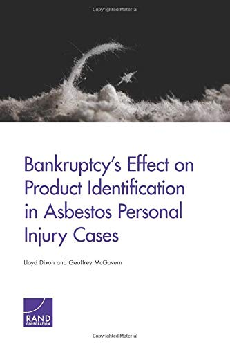 9780833090188: Bankruptcy's Effect on Product Identification in Asbestos Personal Injury Cases