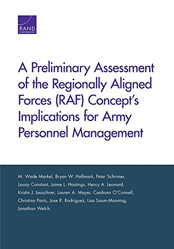 A Preliminary Assessment of the Regionally Aligned: Markel, M. Wade,