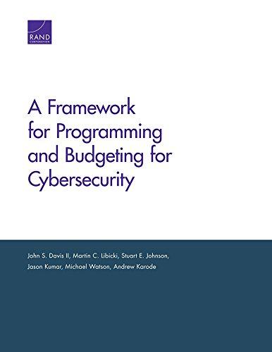 A Framework for Programming and Budgeting for: John S. Davis,