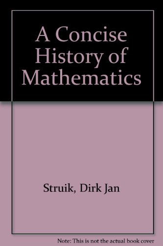 9780833515094: A Concise History of Mathematics