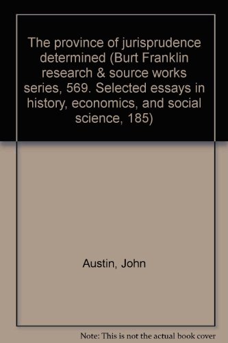 john austin and the concept of commands essay John austin facts: british legal philosopher john austin (1790-1859) is noted for providing the terminology necessary to analyze the interrelationship between ethics and proper law that has evolved into the modern field of jurisprudence.