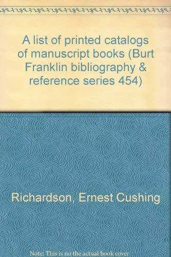 A Union World Catalog of Manuscript Books: Ernest Cushing Richardson