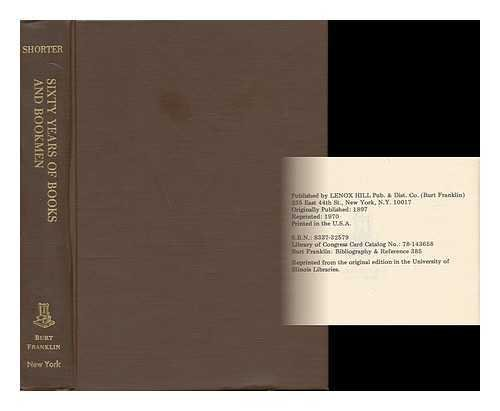 9780833732576: Victorian Literature Sixty Years of Books and Bookmen (Burt Franklin bibliography & reference, 385)