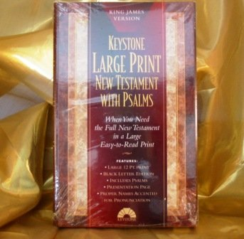 Large Print New Testaments With Psalms: KJV Burgundy Imitation Leather/With Amber Edges/...