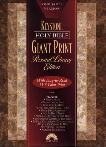 9780834003514: Bible Kjv Keystone Giant Print Burgundy Hc