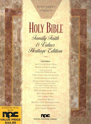 9780834003521: Keystone Family Faith & Values Bible-KJV-Giant Print
