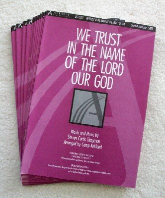 9780834196148: We Trust in the Name of the Lord Our God