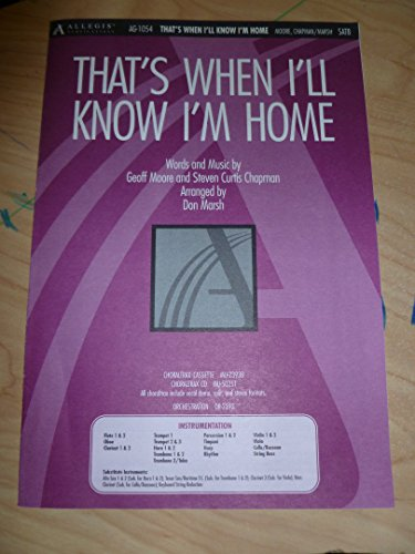9780834198821: That's When I'll Know I'm Home