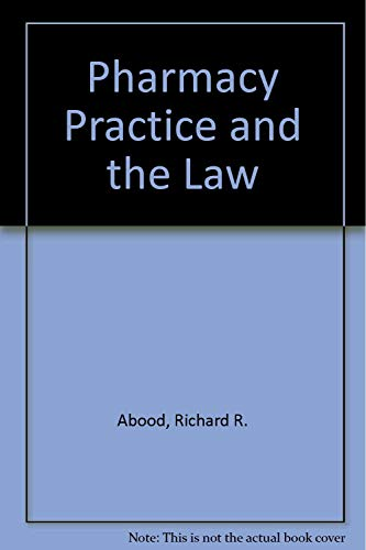 9780834203211: Pharmacy Practice and the Law