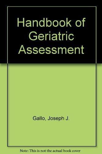 9780834205666: Handbook of Geriatric Assessment