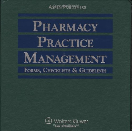 9780834210790: Pharmacy Practice Management: Forms, Checklists & Guidelines