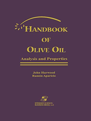 9780834216334: Handbook of Olive Oil: Analysis and Properties