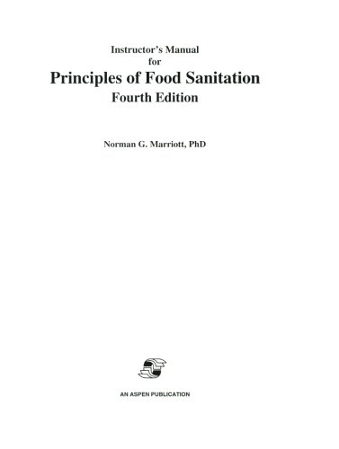 9780834216471: Instructor's Manual for Principles of Food Sanitation (Food Science Text Series)