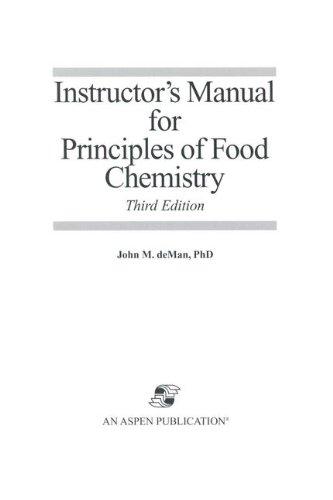 Im, Principles of Food Chemistry (Food Science Text Series)