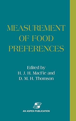 9780834216792: Measurement of Food Preferences