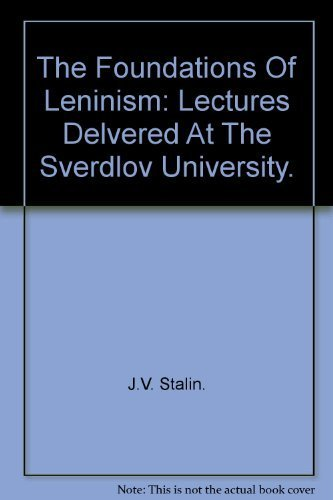 9780835100892: Foundations of Leninism