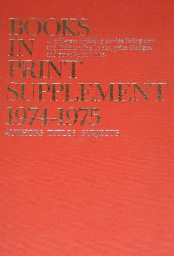American Books in Print 1975-76: Suppt