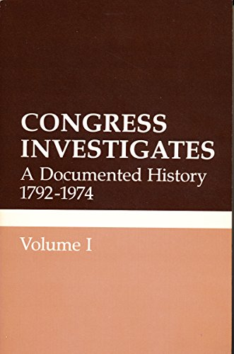 Congress Investigates: A Documented History 1792-1974 (Volumes 1-5)