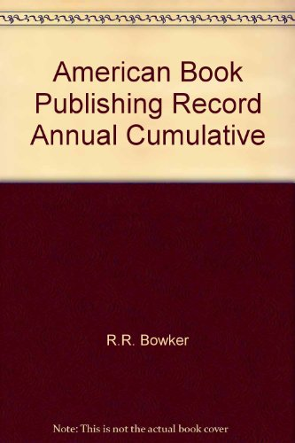 9780835214384: American Book Publishing Record Annual Cumulative