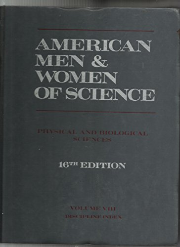 American Men and Women of Science: n/a