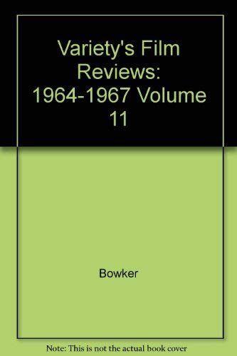 Variety's Film Review, 1964-1967 (Vol 11) (9780835227902) by Bowker