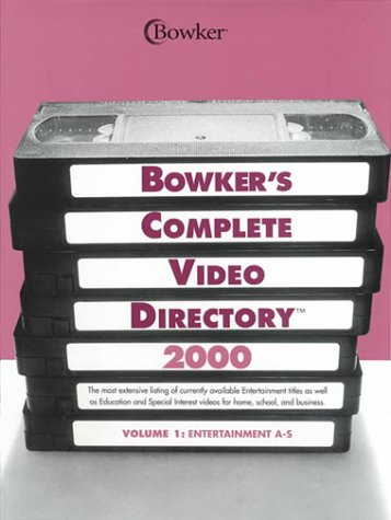 Bowker's Complete Video Directory 2000 (Bowkers Complete Video Guide, 2000) (4 Volume Set) (0835243052) by Bowker