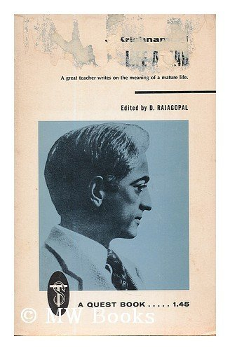 9780835600200: Life ahead / by J. Krishnamurti ; edited by D. Rajagopal