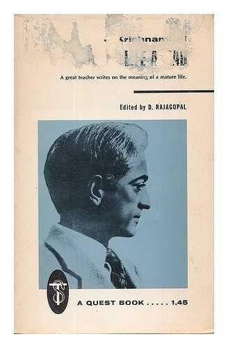 Life Ahead: J Krishnamurti