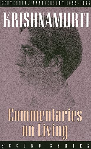 9780835604154: Commentaries on Living (Second Series)