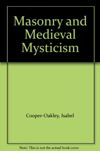 9780835653091: Masonry and Medieval Mysticism