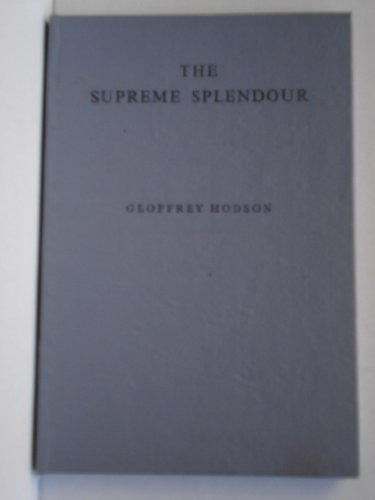 9780835672962: The Supreme Splendour