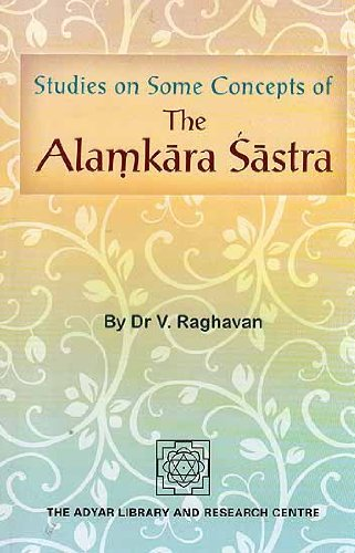 9780835672986: Studies of Some Concepts of the Alamkara Sastra (Adyar Library series)