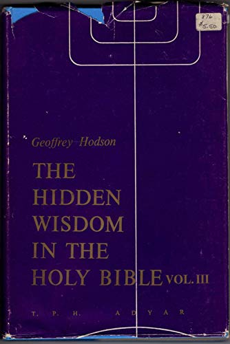 9780835674935: 003: The Hidden Wisdom in the Holy Bible