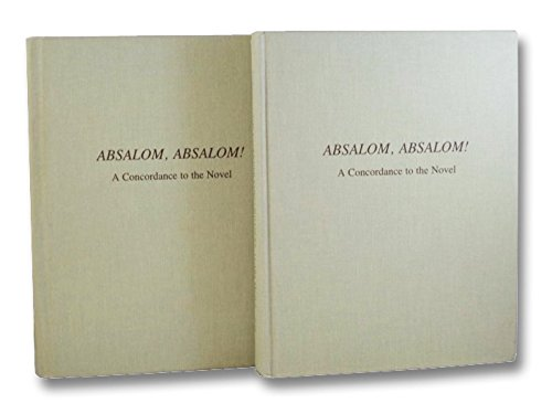 9780835708630: Absalom Absalom: A Concordance to the Novel (Faulkner Concordances)