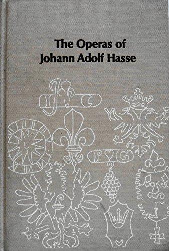 9780835710060: Operas of Adolf Hasse (Studies in musicology)