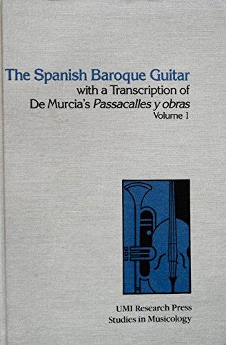 9780835711883: Spanish Baroque Guitar with a Transcription of De Murcia's