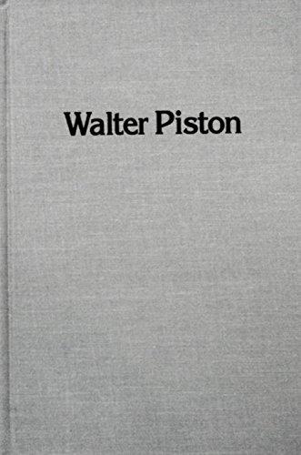 9780835712804: Walter Piston (Studies in musicology)