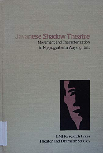 9780835712835: Javanese Shadow Theatre (Theater and dramatic studies)