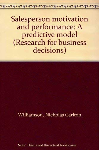 9780835713368: Salesperson Motivation and Performance: A Predictive Model (Research for business decisions)