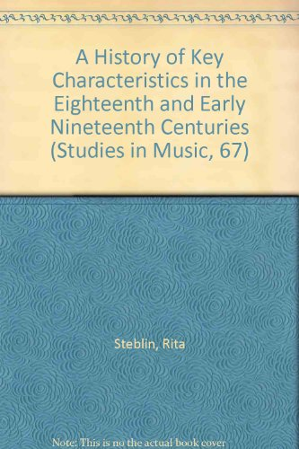 9780835714181: History of Key Characteristics in the Eighteenth and Early Nineteenth Centuries