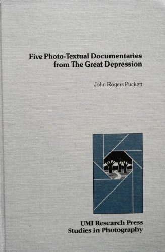 9780835715829: Five Photo-Textual Documentaries from the Great Depression (Studies in Photography)