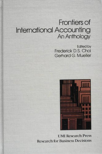 9780835716604: Frontiers of International Accounting: An Anthology (Research for business decisions)