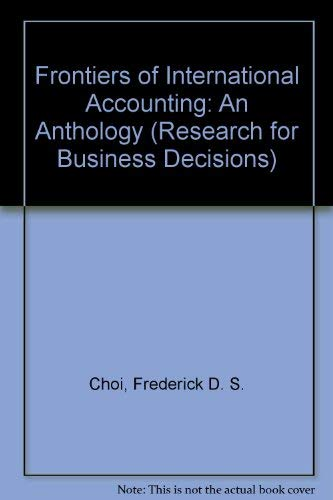 9780835716888: Frontiers of International Accounting: An Anthology (Research for Business Decisions)