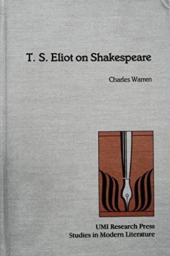 9780835717847: T.S. Eliot on Shakespeare