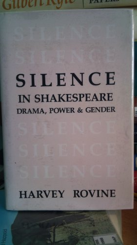 9780835718271: Shakespeare's Silent Characters (Theater and dramatic studies)